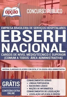 Apostila Concurso EBSERH 2019 Download PDF e Impressa