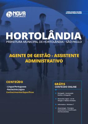 Apostila Concurso Prefeitura de Hortolândia 2019 Assistente Administrativo Impressa e PDF Grátis Cursos Online