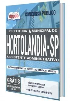 Apostila Prefeitura de Hortolândia 2019 Assistente Administrativo PDF e Impressa
