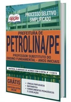 Apostila Prefeitura de Petrolina Pernambuco 2019 PDF e Impressa