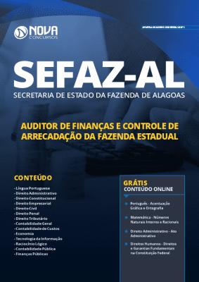 Apostila Concurso SEFAZ AL 2020 Auditor de Finanças e Controle de Arrecadação da Fazenda Estadual Grátis Cursos Online