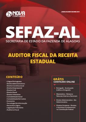 Apostila Concurso SEFAZ AL 2020 Auditor Fiscal da Receita Estadual Grátis Cursos Online