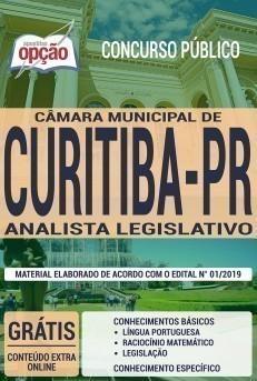 Apostila Concurso Câmara de Curitiba 2020 Analista Legislativo PDF e Impressa