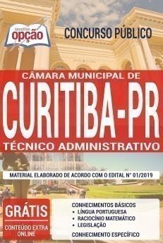 Apostila Concurso Câmara de Curitiba 2020 Técnico Administrativo PDF e Impressa