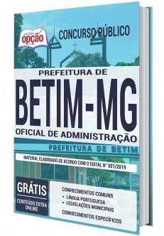 Apostila Concurso Prefeitura de Betim 2020 PDF e Impressa