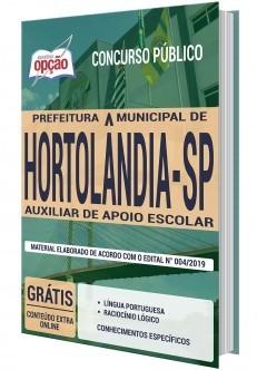 Apostila Concurso Prefeitura de Hortolândia 2020 Auxiliar de Apoio Escolar PDF e Impressa