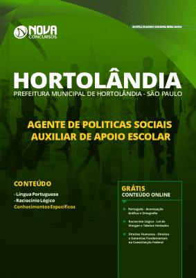 Apostila Concurso Prefeitura de Hortolândia 2020 Auxiliar de Apoio Escolar Grátis Cursos Online