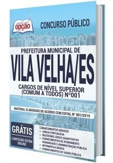 Apostila Concurso Prefeitura de Vila Velha 2020 PDF e Impressa