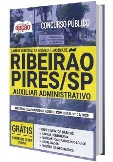 Apostila Concurso Câmara de Ribeirão Pires 2020 Auxiliar Administrativo PDF e Impressa