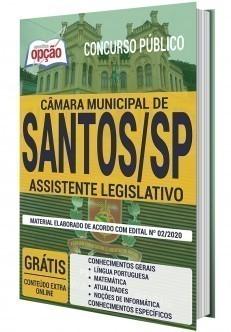 Apostila Concurso Câmara de Santos 2020 Assistente Legislativo PDF e Impressa