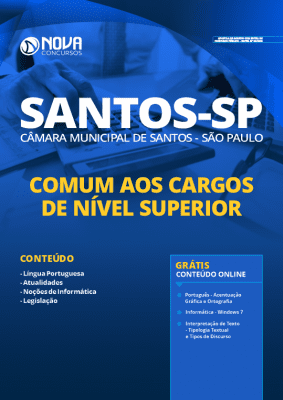 Apostila Concurso Câmara de Santos 2020 Nível Superior Grátis Cursos Online
