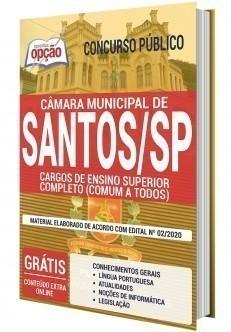 Apostila Concurso Câmara de Santos 2020 Nível Superior PDF e Impressa