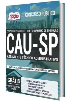 Apostila Concurso CAU SP 2020 Assistente Técnico Administrativo PDF e Impressa