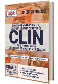 Apostila Concurso CLIN 2020 PDF e Impressa
