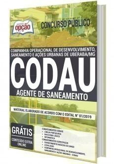 Apostila Concurso CODAU 2020 Agente de Saneamento PDF Download Digital e Impressa