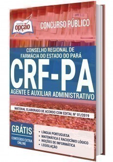 Apostila Concurso CRF PA 2020 Agente e Auxiliar Administrativo PDF e Impressa
