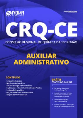 Apostila Concurso CRQ CE 2020 Auxiliar Administrativo Grátis Cursos Online