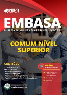 Apostila Concurso EMBASA 2020 Nível Superior Grátis Cursos Online