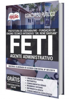 Apostila Concurso FETI 2020 Agente Administrativo PDF e Impressa