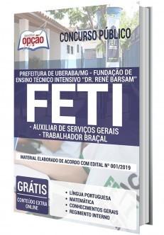 Apostila Concurso FETI 2020 Auxiliar de Serviços Gerais e Trabalhador Braçal PDF e Impressa