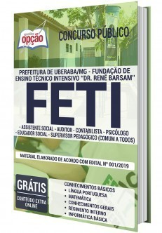 Apostila Concurso FETI 2020 Cargos de Nível Superior PDF e Impressa