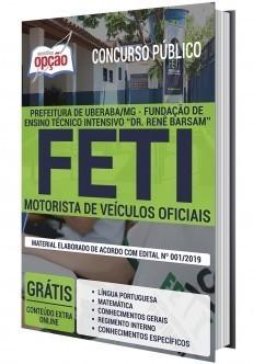Apostila Concurso FETI 2020 Motorista de Veículos Oficiais PDF e Impressa
