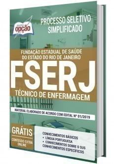 Apostila Concurso FSERJ 2020 Técnico de Enfermagem PDF e Impressa