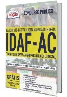 Apostila Concurso IDAF AC 2020 Técnico em Defesa Agropecuária PDF e Impressa