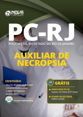 Apostila Concurso PC RJ 2020 Auxiliar de Necropsia Grátis Curso Online