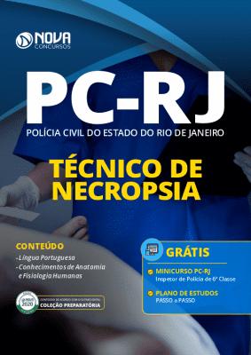 Apostila Concurso PC RJ 2020 Técnico de Necropsia Grátis Curso Online