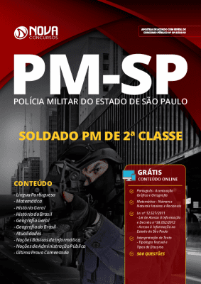 Apostila Concurso PM SP 2020 Soldado PM Grátis Cursos Online