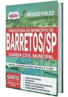 Apostila Concurso Prefeitura de Barretos 2020 Guarda Municipal PDF e Impressa