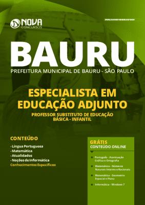 Apostila Concurso Prefeitura de Bauru 2020 Professor Grátis Cursos Online