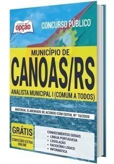 Apostila Concurso Prefeitura de Canoas 2020 Analista Municipal I PDF e Impressa