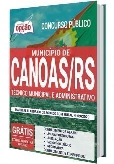 Apostila Concurso Prefeitura de Canoas 2020 Técnico Administrativo PDF e Impressa