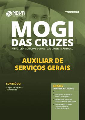 Apostila Concurso Prefeitura de Mogi das Cruzes 2020 Auxiliar de Serviços Gerais Grátis Cursos Online