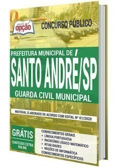 Apostila Concurso Prefeitura de Santo André 2020 Guarda Civil Municipal PDF e Impressa
