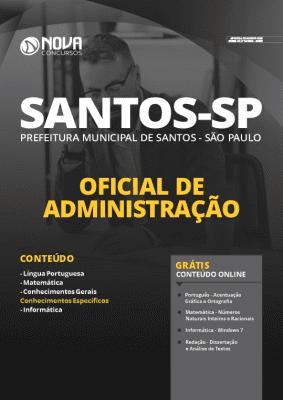 Apostila Concurso Prefeitura de Santos 2020 Oficial de Administração Grátis Cursos Online