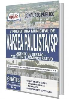 Apostila Concurso Prefeitura de Várzea Paulista 2020 Assistente Administrativo PDF e Impressa