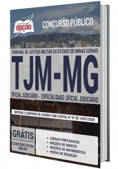 Apostila Concurso TJMMG 2020 Oficial Judiciário PDF e Impressa