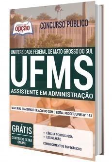 Apostila Concurso UFMS 2020 Assistente em Administração PDF e Impressa