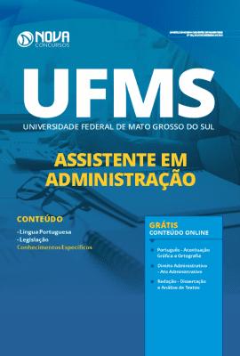Apostila Concurso UFMS 2020 Grátis Cursos Online Assistente em Administração