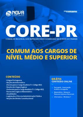 Apostila CORE PR 2020 Nível Médio e Superior Grátis Cursos Online