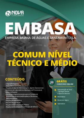 Apostila EMBASA 2020 Nível Médio e Técnico Grátis Cursos Online