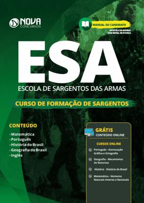Apostila ESA 2020 Curso de Formação de Sargentos Grátis Cursos Online