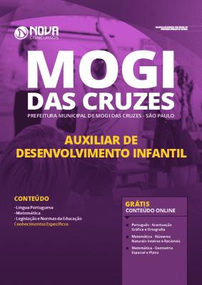 Apostila Prefeitura de Mogi das Cruzes 2020 Auxiliar de Desenvolvimento Infantil Grátis Cursos Online
