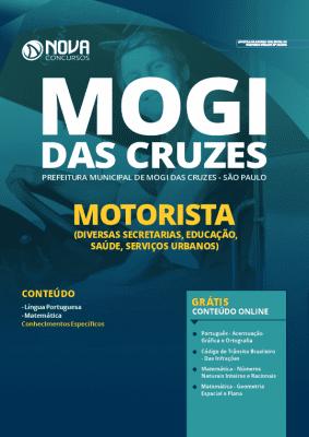 Apostila Prefeitura de Mogi das Cruzes 2020 Motorista Grátis Cursos Online