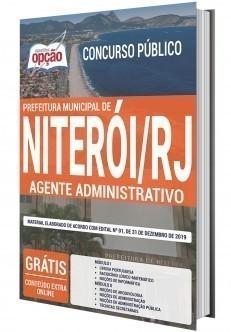 Apostila Concurso Prefeitura de Niterói 2020 PDF e Impressa Agente Administrativo