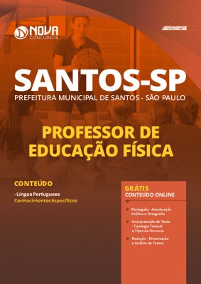 Apostila Prefeitura de Santos 2020 Professor de Educação Física Grátis Cursos Online
