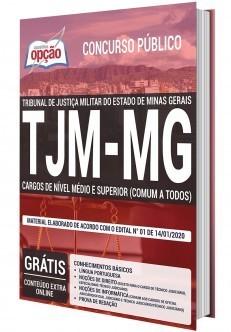 Apostila TJMMG 2020 Nível Médio e Superior PDF e Impressa